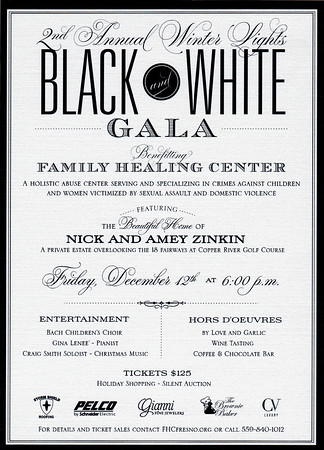 2nd Annual Winter Lights Black and White Gala December 2014