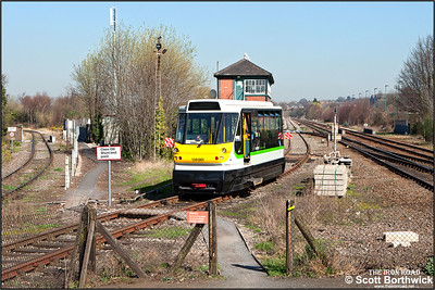 After failing the previous evening, 139001 undergoes repairs at Stourbridge Junction on 27/03/2012.