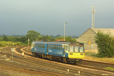 142021 heads for Middlesborough as it rounds the curve at Thornaby on 07/08/2003.
