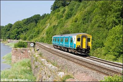 150256 passes Gatcombe whilst forming 2G54 0800 Maesteg-Cheltenham Spa on 24/06/2009.