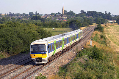 166214 forms 1D47 1651 London Paddington-Banbury at Kings Sutton on 25/07/2006.