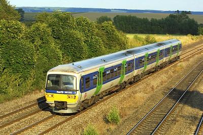 166203 works a London Paddington-Oxford service at South Moreton on 05/07/2004.