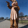 The Easter Bunny stands tall, greeting families at Saturday's Easter Egg Hunt at Westfield High.