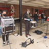 Members of the Westfield High band provided entertainment at Wednesday's event.