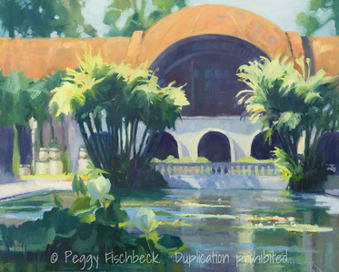 Balboa Park, Sunny Afternoon, 24x30, oil on canvas. H0699  SOLD