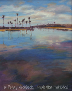 North Mission Bay, Reflections 16x20, Oil on Canvas - available at SCOUT Quarters D  A0194