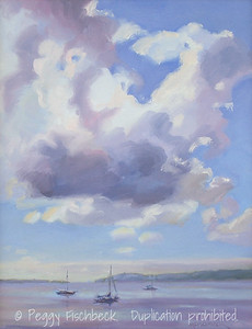 Clouds over the Bay 11x14  oil on canvas