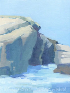 Morning, La Jolla Cove, 9x12, plein air, oil panel - available at SCOUT Quarters D