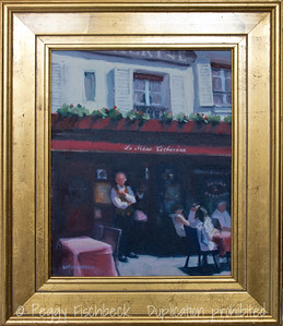 """La Mere Catherine"" Montmartre, 11x14, oil on canvas  SOLD"