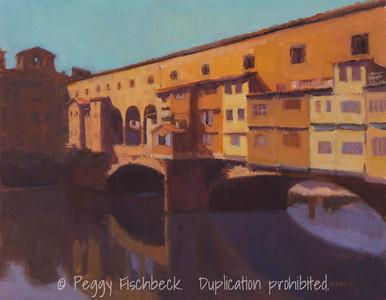 Ponte Vecchio, 11x14, oil linen panel