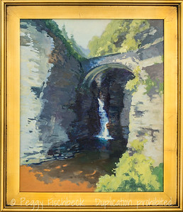 The Falls at Watkins Glen, 11x14, oil on canvas - at SCOUT Quarters D