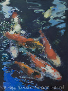 Koi under a Blue Sky, 24x18, oil on canvas w  H0719
