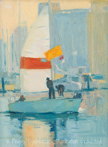 Setting Out For A Sail, 9x12, oil on linen  G0632  Available through SCOUT@Quarters D