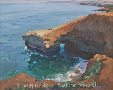Sunset Cliffs, 16x20, oil on canvas - displayed at Therapy Specialists, 2751 Roosevelt Rd, Liberty Station