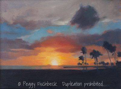 Hawaiian Sunset, 12x16, oil on linen  G0635  Available through SCOUT@Quarters D