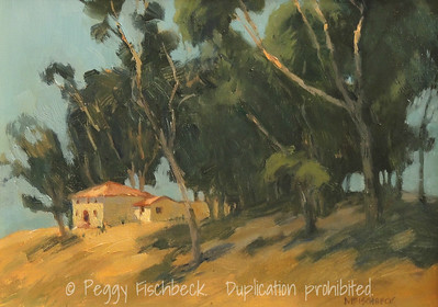Eucalyptus, Roosevelt Gate, 9x12, oil panel - at SCOUT Quarters D
