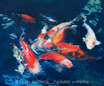 Koi, 20x24, oil on linen - Avsilable at SCOUT Quarters D G0653