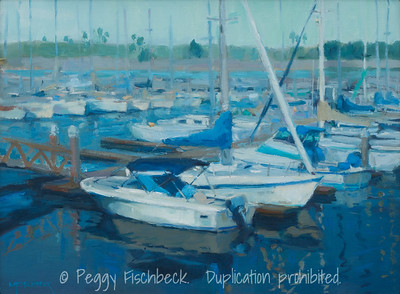 Harbor Island Marina, 12x16, oil on linen  G0614  Available through SCOUT@Quarters D