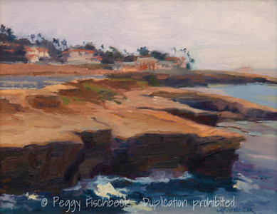 Along the Cliffs, Sunset Cliffs, San Diego, 8x10, oil on panel (sale to benefit Visions Art Museum) SOLD