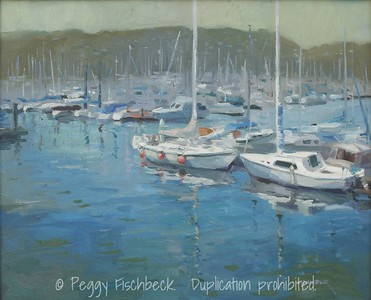 Harbor View, Shelter Island Inlet, San Diego, 16x20, oil on canvas - SCOUT Quarters D - SOLD