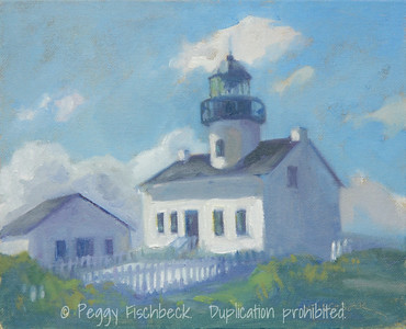Old Point Loma Lighthouse, 8x10, oil  SOLD