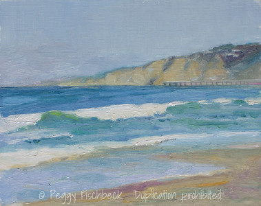 La Jolla Shores - 8x10, oil panel - SOLD at SCOUT Quarters D