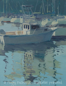 A Good Day for Fishing, 11x14, oil on canvas  - available at SCOUT Quarters D  F0523  SOLD