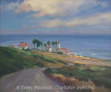 Point Loma Lighthouse, 20x24, oil on canvas  SOLD