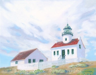 Lighthouse Keeper's House, Point Loma  11x14  oil on canvas  SOLD