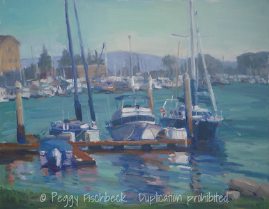 Boat Dock, Pt Loma, 11x14, oil on linen panel  SOLD