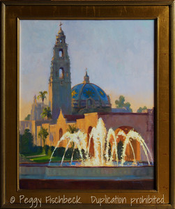 Late Afternoon, Balboa Park, 24x30, oil on canvas - SOLD