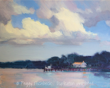 Green Cove Springs, 8x10, oil panel - available at SCOUT Quarters D - SOLD