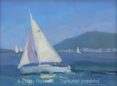 Sailing San Diego, 8x10, oil on canvas  N/A