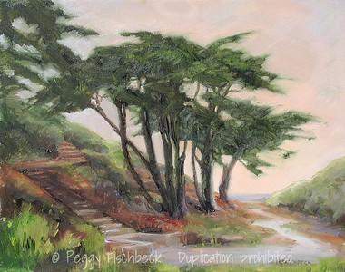 Point Loma Sunset II 11x14 oil on canvas