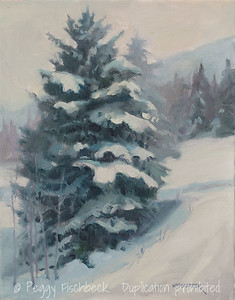Cold Enough for Snow, 14x11 oil on canvas  SOLD   H0670