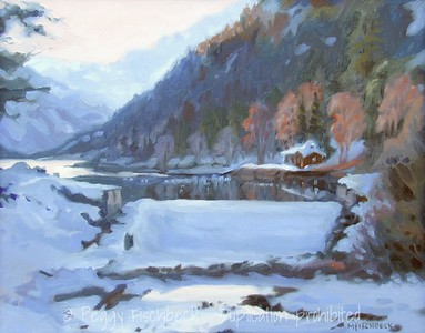 First Snow, Twin Lakes 11x14  oil on canvas   NFS