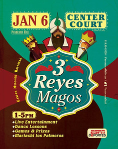 "The Panorama Mall Presents ""The holiday celebration continues at Three Kings Day on (Sunday) January 6th from 1pm to 3pm in Center Court.""  Bring your own camera to take photos with the 3 Wise Men, enjoy children's entertainment and sample Rosca de Reyes bread.  For additonal information go to: WWW.FACEBOOK.COM/PANORAMAMALL  The photos will be uploaded on Jan. 6, 2013 and are free to download courtesy of the Panorama Mall and the Ralph Godoy Photographic Group.  LOOK  for the Panorama Mall photo album, on this site, to view past events.  LatinoLA.com has big plans for this big year, and you can help them by joining their campaign to Help LatinoLA become LatinoCities. Any monetary donation from $1 is welcomed and appreciated. Our campaign ends at midnite next Monday, January 7.Here's the link to our IndieGogo campaign site: http://www.indiegogo.com/LatinoCities  We will succeed in 2013! - Abelardo, el editor   On a personal note; I have worked with the Editor of LatinoLa, Abelardo De La Pena, and have seen him take the time to go to some of the events that are listed on his site, WWW.LATINOLA.COM, and work to make the event a success.  The events, on his site, have proven to be an invaluable  asset for the Ralph Godoy Photographic Group and I am sure that the transition from LatinoLa to LatinoCities will serve to highlight the Artistic endeavors and the diverse views of Latinos."
