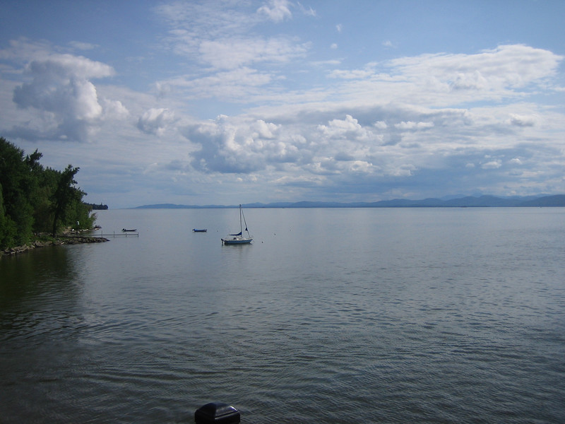 The Burlington Waterfront Bike Path runs for 7.6 miles along the waterfront of Lake Champlain with spectacular views of the Adirondack mountains in New York and the lake itself. Running from the ECHO Lake Aquarium and Science Center to the Winooski River, the trail is used by an estimated 150,000 bikers, pedestrians, joggers, and in-line skaters each year.<br /> <br /> The trail was originally used as a railroad for the Rutland and Burlington Railroad companies, and part of the trail still parallels an active rail line. The railway was used mainly to ship dairy products, but experienced a decline after World War II and was eventually abandoned in 1963. The conversion of the old railroad into a rail-trail began in 1973, and after lengthy battles in the Vermont Supreme Court between the City of Burlington and the railroad companies, the trail was finally completed in 1986. The project received $1,016,000 in TE funding, and the city supplied the additional $254,000 bringing the grand total to $1,270,000.