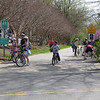 The trail is popular with families on weekends.<br /> <br /> The Capital Crescent Trail extends 10.75 miles along the former right-of-way of the Georgetown Branch of the B&O Railroad between Georgetown in Washington, D.C. to Silver Spring in Montgomery County, Maryland. The trail is a recreational and commuting resource connecting residential, commercial, and employment centers. Along its route, the trail passes over four historic bridges, through two historic tunnels, and provides beautiful vistas of the Potomac River. The transformation from a disused single-track rail line to a first-class trail is an impressive example of cooperation between civic groups and governments. A coalition - comprised of community, environmental, outdoors-oriented groups, and individual citizens - worked with federal, state, county, and district governments to make the trail happen. The 6.4-mile portion of the trail in Maryland received $1.15 million in Transportation Enhancements funding in addition to $6.33 million in local, state, private funding and donations. Congress appropriated $11.5 million for the National Park Service to acquire and develop the 4.3- mile portion of the trail in D.C.