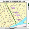 A feasibility study by the Rails-to-Trails Conservancy identified the corridor as an priority for trail development in 2002.  All four of the segments shown on this map were developed as Phase 1 of the Dequindre Cut Greenway.<br /> <br /> The Dequindre Cut is a 1.2 mile rail-trail that connects the Detroit waterfront to several residential and commercial areas. This project converted an abandoned, derelict railroad corridor into a greenway, preserving the right-of-way for transportation use and creating a valuable amenity for the city and for travelers. A $2 million federal TE award in 2004 leveraged a local match of over half a million dollars to construct the first segment of the trail. The full right-of-way is over four miles long, and an extension to the first segment is already under construction.
