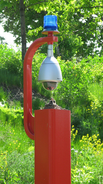 An emergency call box on the trail is part of the foundation for new life in downtown Detroit!<br /> <br /> The Dequindre Cut is a 1.2 mile rail-trail that connects the Detroit waterfront to several residential and commercial areas. This project converted an abandoned, derelict railroad corridor into a greenway, preserving the right-of-way for transportation use and creating a valuable amenity for the city and for travelers. A $2 million federal TE award in 2004 leveraged a local match of over half a million dollars to construct the first segment of the trail. The full right-of-way is over four miles long, and an extension to the first segment is already under construction.
