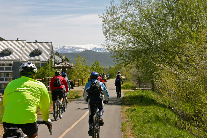 """Photo Credit: Laura Cohen, Rails-to-Trails Conservancy  The <a href=""""http://stateparks.utah.gov/parks/historic-union"""">Historic Union Pacific Rail Trail</a> runs 28 miles from Park City, UT north to the Echo Reservoir through Coalville. The rail trail follows the path of I-80 and is also a state park. The beautiful trail is set amongst the snow-capped backdrop of the Wasatch mountain range. In the summer time the trail is popular with bicyclists and walkers and provides a great starting point for accessing many of the nearby trails. The trail is also open for equestrian use. In the winter time the trail is used mainly by snowshoers and cross-country skiers.  The rail trail was funded by six separate TE projects. The projects occurred in 1992, 1994, 2001, 2005, 2008, and 2009 and received a total of $1.13 million in TE funding. Another $502,000 was contributed as the local match. The 30% local match contributed to these projects helped to design, acquire, and pave the trail. The trail is primarily crushed stone but is paved near Park City and Wanship. The rail trail is maintained by the <a href=""""http://mountaintrails.org/""""> Mountain Trails Foundation</a>   The trail will serve as the backbone to the Wasatch Loop Trail. The Wasatch Loop trail will create a loop connecting South Ogden, Park City, Heber, Provo, Salt Lake City, and many of the sounding areas. For more information on the trail contact the Historic Union Pacific Rail Trail State Park at P.O. Box 754, Park City, UT, 84060-0754 or call the park at (435) 649-6839."""