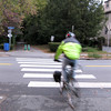 "This cyclist is heading for downtown Arlington.  The <a href=""http://www.minutemanbikeway.org"">Minuteman Bikeway</a> is an 11-mile rail-trail that connects Cambridge with Bedford, passing through Lexington and Arlington. This project converted an abandoned railroad, which provided passenger and freight service from 1846 to 1981 (Passenger service discontinued in 1977), into a multi-use bikeway. Over $2 million in federal TE funds were awarded to four projects that leveraged a total local match of nearly $530,000 to construct portions of the trail.  Connecting to the Alewife T Station in Cambridge, this bikeway serves as a regional connector providing pedestrians and bicyclists with access to subway and bus service. In addition, plowing in the winter makes the rail-trail accessible year-round. The Rails-to-Trails Conservancy inducted the Minuteman Bikeway into the national <a href=""http://www.railstotrails.org/ourWork/promotingTrailUse/trailRecognition/hallOfFame/index.html"">Rails-Trail Hall of Fame</a> in 2008. An interactive Google Map is available <a href=""http://maps.google.com/maps/ms?msa=0&msid=109226583957077835668.000465e72b5c80776ecd6&cd=20&geocode=FdjhgwIdyKe_-w&sll=41.524545,-73.895818&sspn=2.569111,6.049236&hl=en&ie=UTF8&ll=42.440434,-71.218529&spn=0.176595,0.308647&z=12"">here</a>."