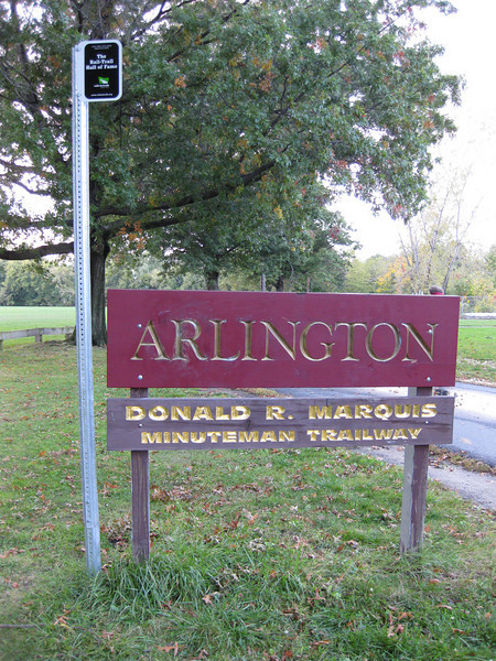 "The Arlington segment of the trail is named in honor of Donald R. Marquis who served as town manager for 35 years.  The <a href=""http://www.minutemanbikeway.org"">Minuteman Bikeway</a> is an 11-mile rail-trail that connects Cambridge with Bedford, passing through Lexington and Arlington. This project converted an abandoned railroad, which provided passenger and freight service from 1846 to 1981 (Passenger service discontinued in 1977), into a multi-use bikeway. Over $2 million in federal TE funds were awarded to four projects that leveraged a total local match of nearly $530,000 to construct portions of the trail.   Connecting to the Alewife T Station in Cambridge, this bikeway serves as a regional connector providing pedestrians and bicyclists with access to subway and bus service. In addition, plowing in the winter makes the rail-trail accessible year-round. The Rails-to-Trails Conservancy inducted the Minuteman Bikeway into the national <a href=""http://www.railstotrails.org/ourWork/promotingTrailUse/trailRecognition/hallOfFame/index.html"">Rails-Trail Hall of Fame</a> in 2008. An interactive Google Map is available <a href=""http://maps.google.com/maps/ms?msa=0&msid=109226583957077835668.000465e72b5c80776ecd6&cd=20&geocode=FdjhgwIdyKe_-w&sll=41.524545,-73.895818&sspn=2.569111,6.049236&hl=en&ie=UTF8&ll=42.440434,-71.218529&spn=0.176595,0.308647&z=12"">here</a>."
