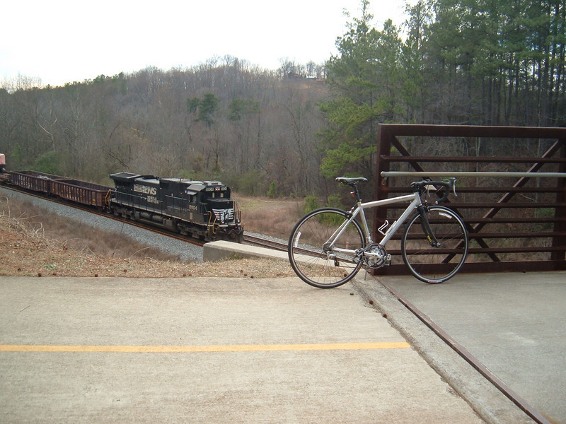 "A train passes below a bridge on the Silver Comet Trail<br /> <br /> The Silver Comet Trail, one of the most popular spots in northwest Georgia for outdoor recreation and bicycle commuting, sprouted from an abandoned rail corridor between Atlanta and the Alabama state line. In the early 1990s, a group of private citizens and non-profit organizations, including the PATH Foundation and the Georgia Rails to Trails Society, spearheaded the development of the trail, working with the Georgia Department of Transportation (GDOT), the Georgia Department of Natural Resources and the three counties adjacent to the trail: Cobb, Paulding and Polk. GDOT purchased the 57-mile corridor in 1992 from CSX for $5.8 million. Today, the trail passes through three Georgia counties and connects with the Chief Ladiga Trail in Cleburne County, Alabama.  These two trails combined run over 100 miles and form the longest paved trail in the United States.<br /> <br /> Development of the Silver Comet Trail was supported by TE grants in 1998 ($695,000 with a $173,750 local match from the City of Rockmart), 2000 ($400,000 with a $202,840 local match from the Cobb County DOT; $50,000 with a $12,500 local match from the Paulding County Chamber of Commerce; and $959,000 with a $239,750 local match from Polk County),  2001 ($875,000 with a $343,200 local match from GDOT), and 2004 ($750,000 with a local match of $187,500 from the Cobb County DOT).  The grants and matches total $4,888,540.<br /> <br /> Learn more about The Silver Comet Trail at <a href=""http://www.silvercometga.com/"">http://www.silvercometga.com/</a> and <a href=""http://www.silvercomet.org/"">http://www.silvercomet.org/</a>."