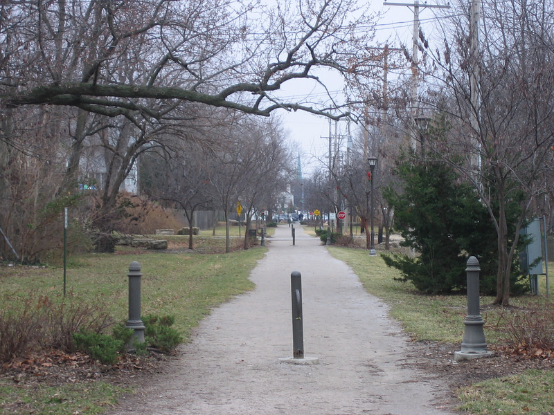 The 6-mile Harry Wiggins Trolley Track Trail in Kansas City, Missouri was originally the site of the last streetcar line in Kansas City, the Country Club line. It was converted to a rail-trail in the late 1990's and is named after the late Senator Wiggins, a longtime supporter of the Kansas City Department of Transportation. The trail is composed of crushed limestone and asphalt, and is used by bicyclists and pedestrians. Plans are already underway to extend the trail an additional two miles and eventually connect it with the regional and state trail systems. <br /> <br /> The trail received multiple grants from the TE program, including $190,000 in 1998 and an additional $355,000 in 1999.