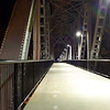 "The bridge at night.<br /> <br /> In 2004, the City of Salem purchased the Union Street Railroad Bridge and its associated timber trestle from Pacific Union Railroad for $1, and converted it into a multi-use pathway for pedestrians, bicyclists, and other non-motorized users. The bridge, originally built in 1912-13, crosses a half-mile span of the Willamette River. The project improved bicycle and pedestrian safety and access, and provided a critical link in local, state, and regional trail networks. <br /> <br /> On April 18, 2009, hundreds of people joined local and state officials for the project's grand opening ceremony and an inaugural trip across the bridge. The project was awarded TE funds in 2003. Federal Award: $2,016,000; Local Match: $1,383,108; Total: $3,399,108<br /> <br /> To take a virtual walk across the bridge visit  <a href=""http://www.youtube.com/watch?v=uQDrhOQfwJc"">http://www.youtube.com/watch?v=uQDrhOQfwJc</a><br /> <br /> Photo credit: HDR"