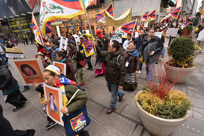 TIBETAN  NATIONAL  UPRISING  DAY   2015   -  Times  Square /   42nd  Street,  Manhattan  NYC