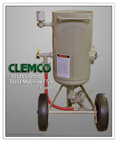 3 cuft Classic Blast Machine FSV