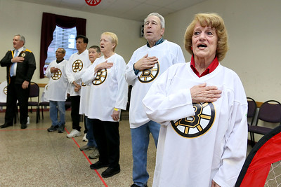 3-on-3 hockey with the Bruins at the Burlington Senior Center, Feb. 8, 2017